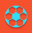 soccer ball sign whitish icon on brick vector image