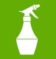 spray bottle for flower icon green vector image vector image