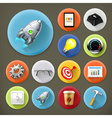Start up long shadow icon set vector image vector image