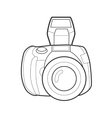 Symbol photo camera Icon for web site Line art vector image