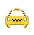 taxi icon taxi icon taxi vector image