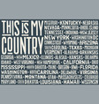 this is my country united state america flag vector image vector image