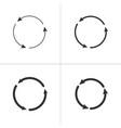 three circle counter clockwise arrows black icon vector image vector image