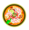 Tom Yum Goong or Thai Spicy Sour Soup with Shrimps vector image vector image