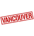 Vancouver red square stamp
