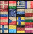 vintage europe patchwork pattern vector image vector image