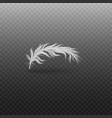 white bird fluffy feather with shadow 3d realistic vector image