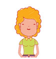woman with haistyle and casual clothes vector image vector image