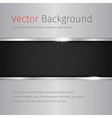 chrome background with dark pattern vector image