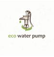 retro water pump vector image