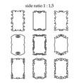set of rectangular outline frames isolated vector image