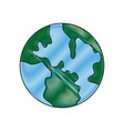 global world earth map atlas location vector image