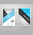 Abstract blue brochure template with icons vector image