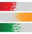 abstract geometric color banner vector image vector image