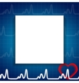 Abstract Heart Pulse Blank Paper Sheet Medical vector image