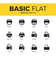 Basic set of Printer icons vector image vector image
