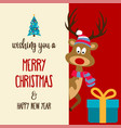 beautiful flat design christmas card with vector image vector image