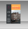 brochure flyer leaflet template blank vector image