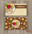 business card for bakery business vector image