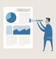 business man use binnocular forecasting g vector image vector image