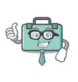 businessman suitcase character cartoon style vector image