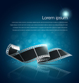 Camera film roll blue background vector image vector image