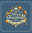 christmas and happy new year background vector image vector image