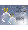 christmas background with realistic balls xmas vector image vector image