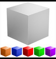 colored cubes vector image vector image