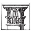 corinthian capital tower of the winds vintage vector image vector image