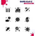 coronavirus prevention set icons 9 solid glyph vector image vector image