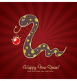 Cute New Year chinese black snake vector image