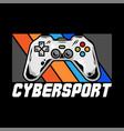cybersport logo design vector image
