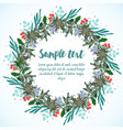 design of card with christmas wreath vector image