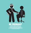 Doctor With A Pregnant Woman Symbol vector image vector image