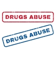 Drugs Abuse Rubber Stamps vector image vector image