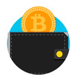 electronic wallet for bitcoin application icon vector image