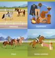 equestrian sport design concept vector image vector image