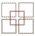 Five Geometric ethnic Frames vector image