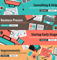 flat design concepts for mobile marketing vector image