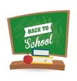 Flat of Back to School design vector image