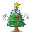 geek christmas tree character cartoon vector image vector image