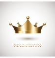 Gold Crown Isolated On White Background vector image vector image