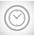Grey clock sign icon vector image vector image