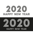happy new year 2020 text typography design for vector image vector image