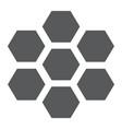 honeycomb glyph icon bee and honey hexagon sign vector image vector image