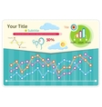 Infographics weather icons and elements vector image vector image
