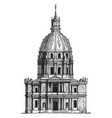 invalides at paris containing museums and vector image vector image