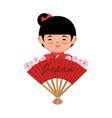 japanese culture beautiful geisha vector image vector image
