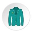 Men green jacket icon cartoon style vector image vector image